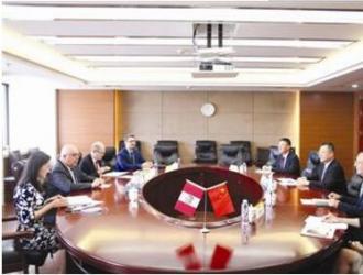葛红林会见秘鲁驻华大使路易斯·克萨达
